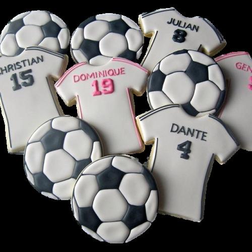 football and shirt cookies 8