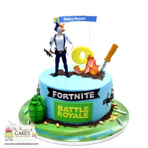 Fortnite Cake 16 - Meowscles cake