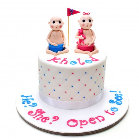 Gender reveal cake 2