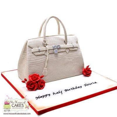 Hermes bag cake 2
