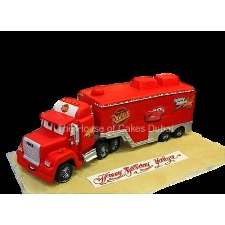 muck truck 3d cake 6