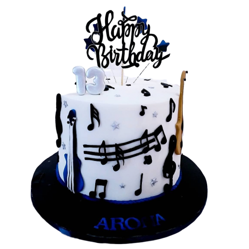 Musical notes cake 2