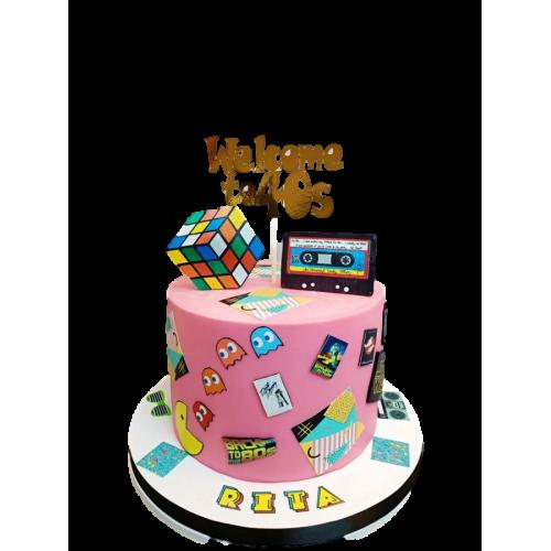 80's theme cake 7