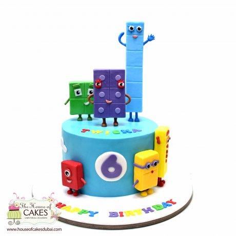 numberblocks cake 1 6