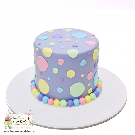 pastel polka dot cake 12