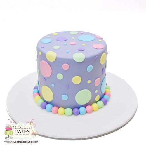 pastel polka dot cake 13