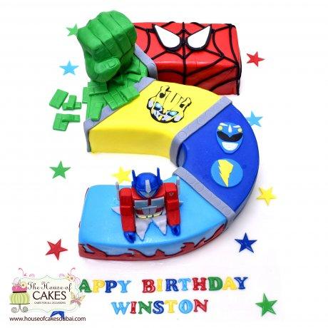superheroes cake 33 6