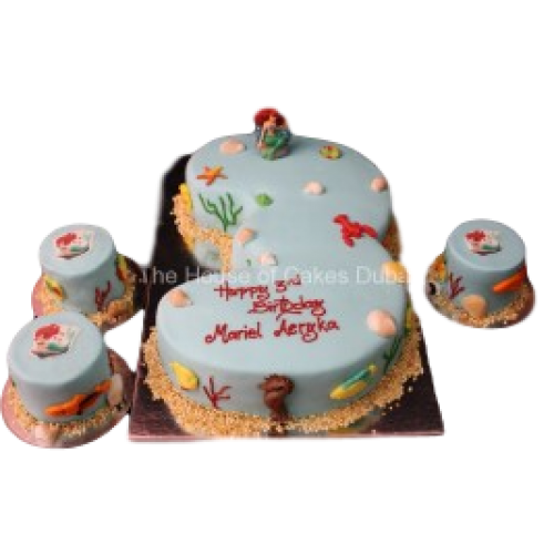 Ariel cake and mini cakes