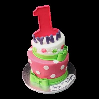 1st Birthday topsy turvy cake