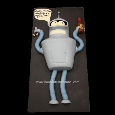 bender robot cake 6