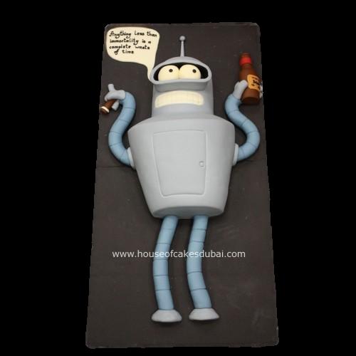 Bender robot cake