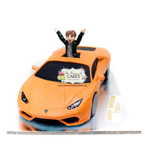 Orange Lamborghini Cake 2