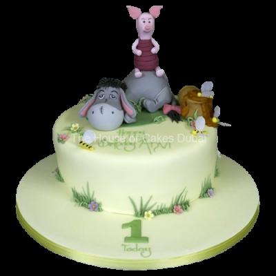 Eeyore and Piglet cake