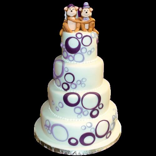 Cute Monkies Wedding Cake