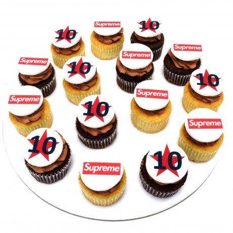 cupcakes with company logo 2 6
