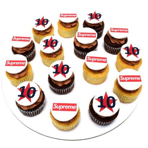 cupcakes with company logo 2 7
