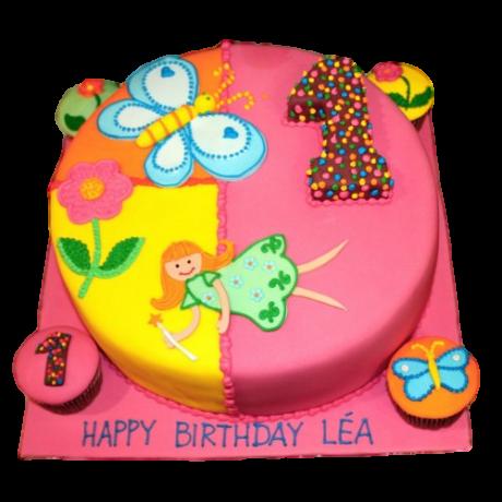 1st birthday fairy cake 6