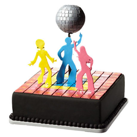 disco themed cake 1 6