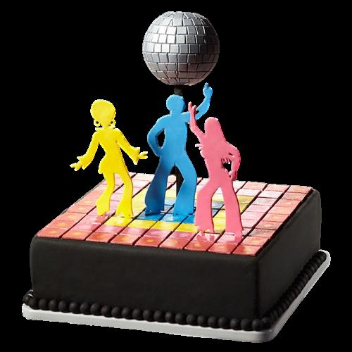 disco themed cake 1 7