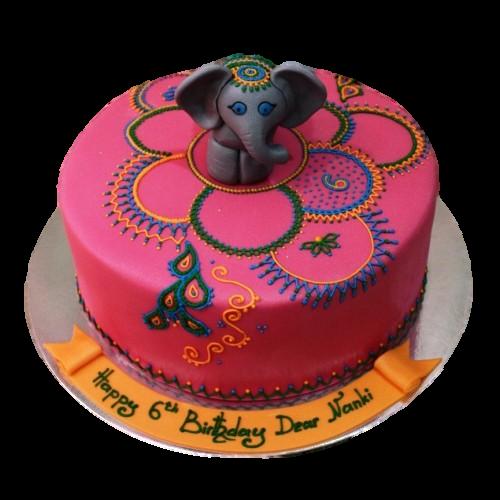 Cake with elephant