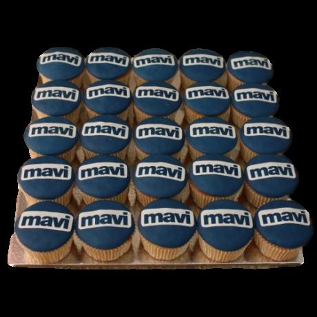 cupcakes with company logo 6