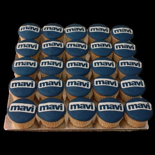 cupcakes with company logo 7