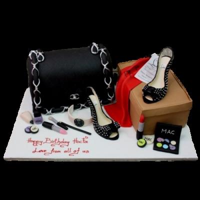Chanel bag and Louboutin's cake