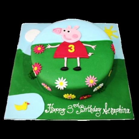 peppa pig cake 3 6