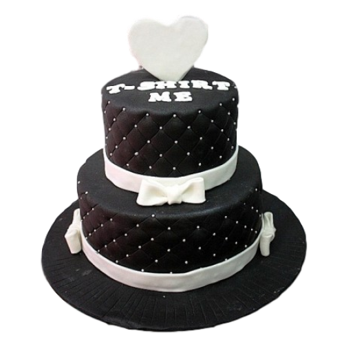 Black and white cake 3