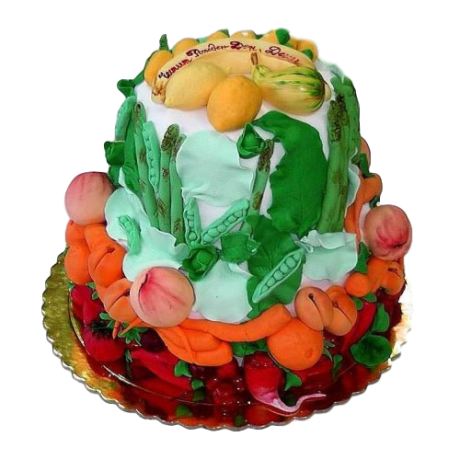 cake with fruits and vegetables 6