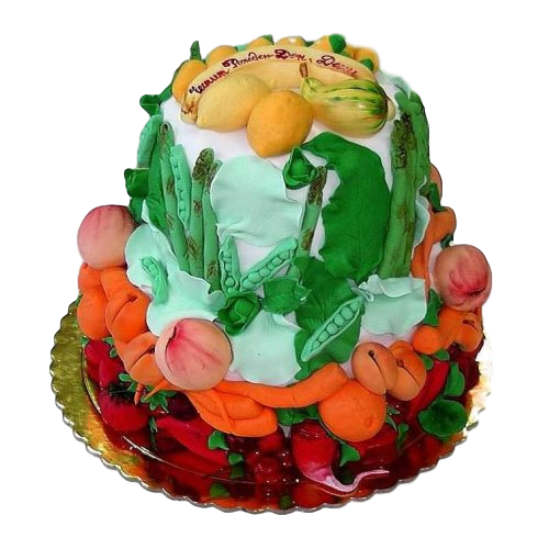 cake with fruits and vegetables 7
