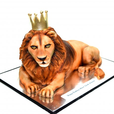 3d lion shaped cake 6