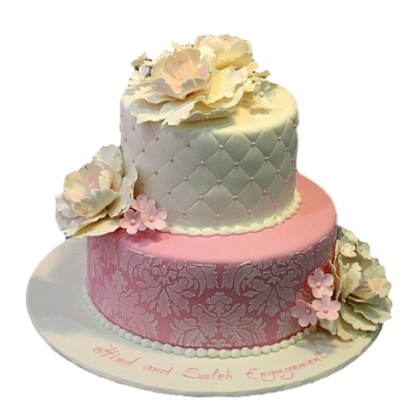 elegant cake with peonies 6