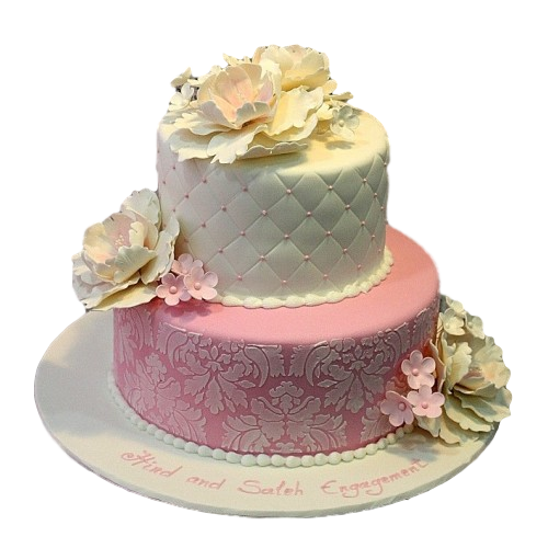 elegant cake with peonies 8