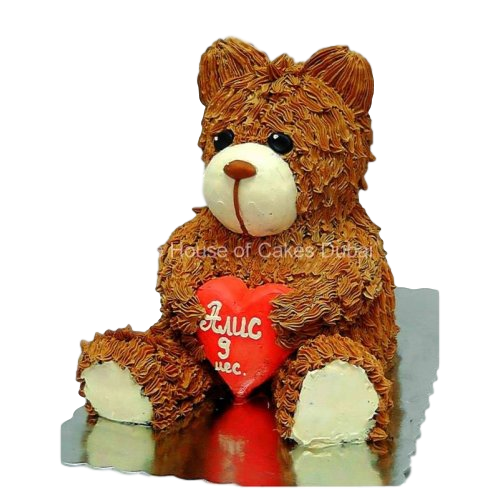3 D Teddy Bear Cake
