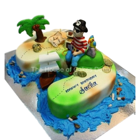 3rd birthday pirate theme cake 6