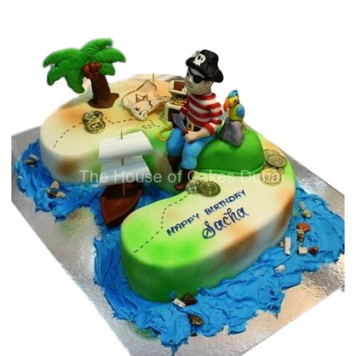 3rd birthday pirate theme cake 8