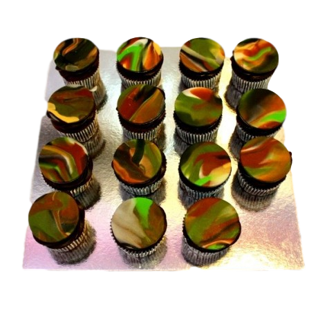 camouflage cupcakes 6