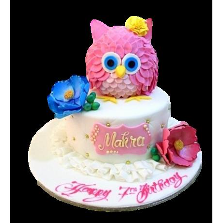 owl cake 8 6