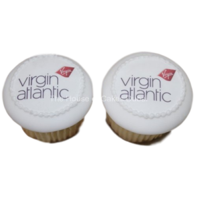 Virgin airlines cupcakes with logo 1