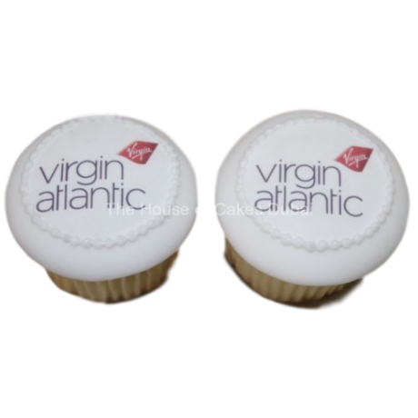 virgin airlines cupcakes with logo 1 6