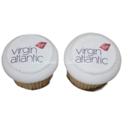 virgin airlines cupcakes with logo 1 7