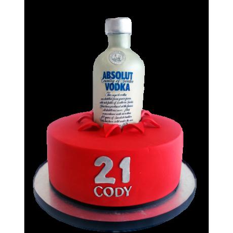 absolut vodka bottle cake 6