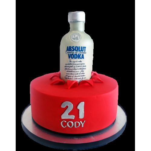 absolut vodka bottle cake 7