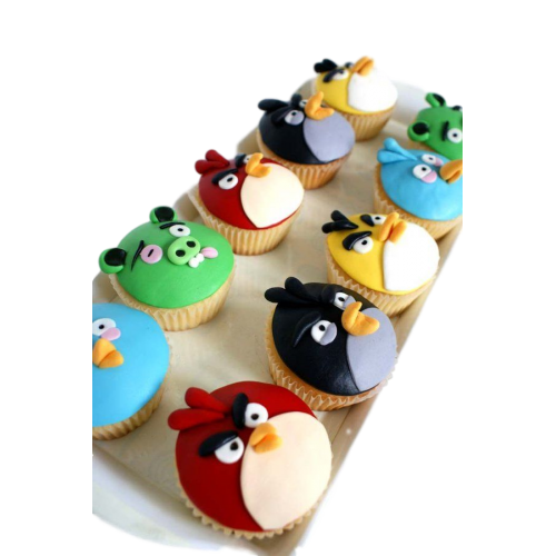 angry birds cupcakes 2 7