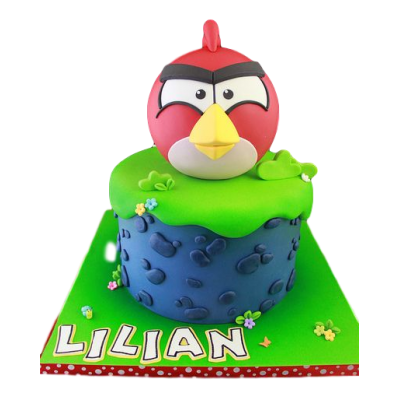Angry Bird cake - red