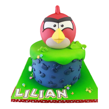 angry bird cake - red 6