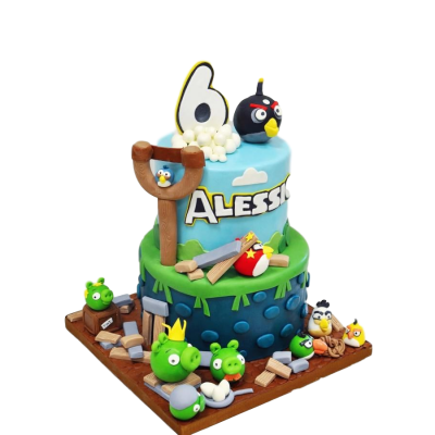 Angry birds cake 14