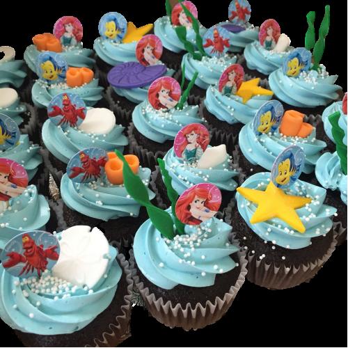 ariel cupcakes 7