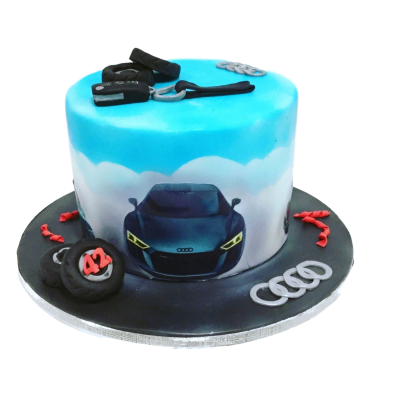 Audi theme cake